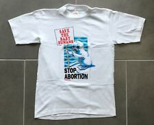 70s ANTI ABORTION T Shirt - Vintage Single Stitch Political Protest USA 80s -- M