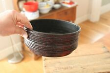 Vintage Speckled Black & Red Demolet / Better-Maid Early Plastic Planter Planter
