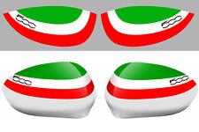2 X RETROVISEUR SKIN FIAT 500 ITALIE RACING 250X110mm AUTOCOLLANT STICKER FA118