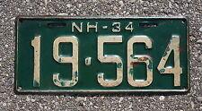1934 New Hampshire Passenger License Plate