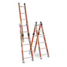 WERNER 7808 Combination Ladder,8 ft.,IAA,Fiberglass