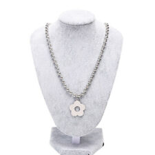 Fashion Stainless Steel Flower Beads Choker Necklace Gothic Collar Jewelry GiJC