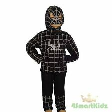 50% OFF SALE Black Spiderman Hero Halloween Kid Boy Fancy Party Costume Size 2