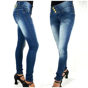 Blue Rags Denim Jeans Damen Hose slim fit stretch blau 273