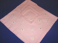 Set of Pink Tablecloth and Four Napkins - SHIPPING INCLUDED