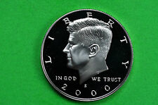 2000-S  SILVER Kennedy Half Dollar Deep Cameo US GEM Proof Coin (90% SILVER)