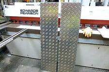 Qty 2 -  Chequer Plate 1250 x 300 x 2.0mm Landrover Trailer Anti Slip Aluminium