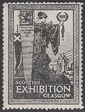 UK Poster stamp: RARE 1911 Scottish Exhibition, Glasgow - dw931b