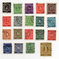 Deutsche Post Alliierte Besetzung Ziffern 2-84 Pfennig + 1RM + Berlin - 47 Stück