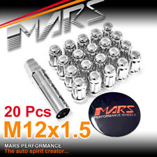 20x Chrome Mars Performance wheels M12 x 1.5 ultra slim 7 spline Lug Lock Nuts