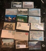 17 World Wide Hotel Related Picture Postcard Cover Collection Lot MXE
