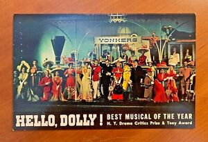 CAROL CHANNING in HELLO, DOLLY!  POSTCARD BROADWAY 1964