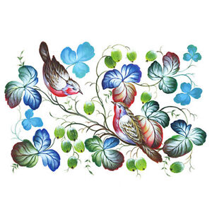 Rice paper for decoupage. Sweet birds. 11.1 x 15.11 inches. Made in Russia