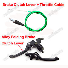 Green Throttle Cable Brake Clutch Lever For Thumpstar XR50 CRF50 Pit Dirt Bike