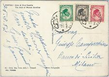 56445 -   LIBYA Libia - POSTAL HISTORY: POSTCARD to ITALY - 1954
