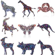 Fashion Print Pattern Pin Brooch Animals Butterfly Womens Jewellery Party Gift