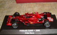 FERRARI  F2008 - FELIPE MASSA  FORMULA ONE RACING CAR - 2008   - 1:43 - BOXED