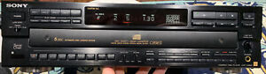 Sony CDP-C89 ES 5-Disc CD Changer works good