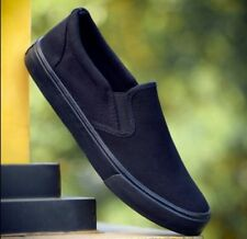 Loafers & Slip Ons Solid Canvas Casual Shoes for Men