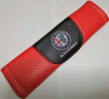 2Pcs Red Color Car Baby Seat Belt Shoulder Cushion Cover Pad Fit For Alfa Romeo