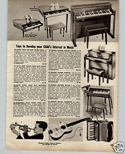 1964 PAPER AD Jaymar Kid's Toy Baby Grand Piano Schoenhut 30 Key Emenee Guitar