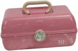 Caboodles On-The-Go Girl Retro Cosmetic Case with Mirror - Pale Pink Marble