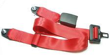 Roter 2 - Punkt Statik - Sicherheitsgurt Fiat 600 , Fiat 600 D  , red lap belt