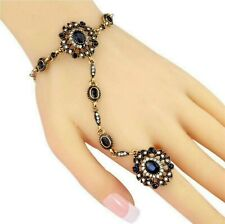 Oriental Slave Bracelet with Ring Bangle Hand Chain Hand Jewelry