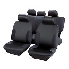 Housses de Siège 1/3 2/3 en Jacquart Noir pour Toyota Land Cruiser -  QD207