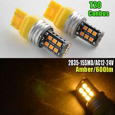 2x T20 7440 7443 15 SMD 2835 Amber Canbus Car Brake Tail LED Light Bulb AC12-24V