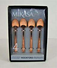 Mikasa Demitasse Spoons Rockford Rose Gold Plated On Forged Stainless Steel