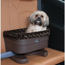 Pet Gear Plush Bucket Seat Booster For Pet Dog Car Travel In Chocolate Swirl