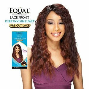 Freetress Equal Lace Front PreCut Deep Invisible Part Curly Long Wig - Milly
