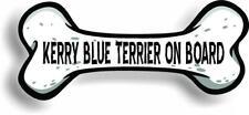 "Dog on Board Kerry Blue Terrier Bone Car Magnet Bumper Sticker 3""x7"""