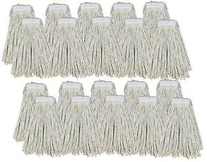 Kentucky Mop Head 16oz Replacement Commercial Cotton Heavy Duty Large 20 Pack