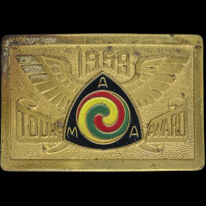 AMA Gypsy Tour 1959 Rally Indian Triumph Harley Motorcycle Vintage Belt Buckle