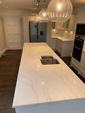 Calacatta White  Quartz Kitchen Worktop   All colours available