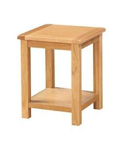 Everest Solid Oak End Lamp Side Table with Shelf Living room Bedroom Furniture