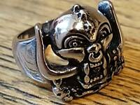 Motorhead Warpig Ring Band Lemmy Kilmister Stainless Steel Jewellery - New UK