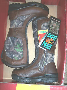 Womens Boots Snake Proof Boots Water Proof Boots Camo Hunting Boots Leather 9.5