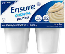 Ensure Pudding Vanilla 4 oz. Cups, Abbott 54844, Fresh Product - Case of 48 Cups