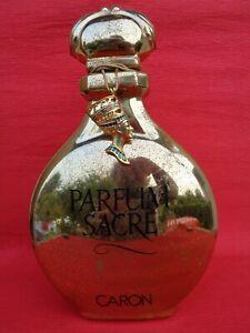 Flacon Géant Ancien Publicité PARFUM SACRE CARON par SONABAT Chantal & Médaillon