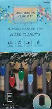 "24 Gemmy ""Orchestra of Lights"" Multi-Function Color-Changing C9 Led Lights"