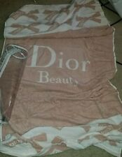 New LARGE Christian Dior Beauty Body Beach Gym Towel & Clear Bag Case