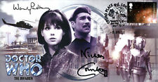 """Doctor Who """"The Invasion"""" Stamp Cover Dual Signed by PADBURY & COURTNEY"""