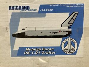 L180 Anigrand Resin Model Kit AA 5002 Molniya Buran OK 101 Orbiter
