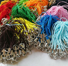 100pc Cell Phone Lanyard Cords Strap Lariat DIY with Double Loop Split Ring