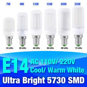 ultra bright led corn bulb lamp e14 25/12/9/7w cool/warm milky white 220v lights