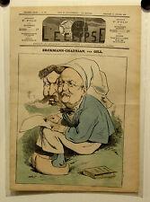 Caricature,Journal l'éclipse,erckmann-Chatrian, Gill, 20 Février 1876