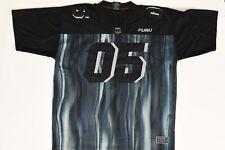 FUBU Champions League Sz 2XL Short Sleeve Black Nylon Casual Men Football Jersey